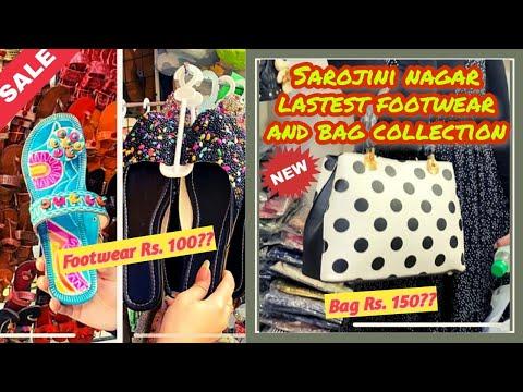 Sarojini Nagar Market Delhi | Footwear and Bags Collection | October 2020
