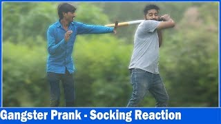 Gangster Prank  | Shocking Reations - Ft. Sunnyaryaa | Prank In India | The HunGama Films