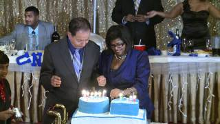 The 70th Birthday Cake Cutting Ceremony at New Jaasmin Banquet Hall Toronto Indian Event Video