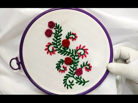 Hand Embroidery Bullion Knot And French Knot Stitch Youtube