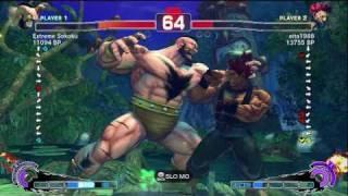 Eita [Akuma] vs Extreme Sokoku [Zangief] SSF4 Japanese Online Ranked Matches - TRUE-HD
