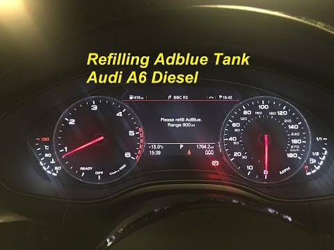 Refilling Adblue Myself Audi A6 Diesel Using 10L Adblue Bottles