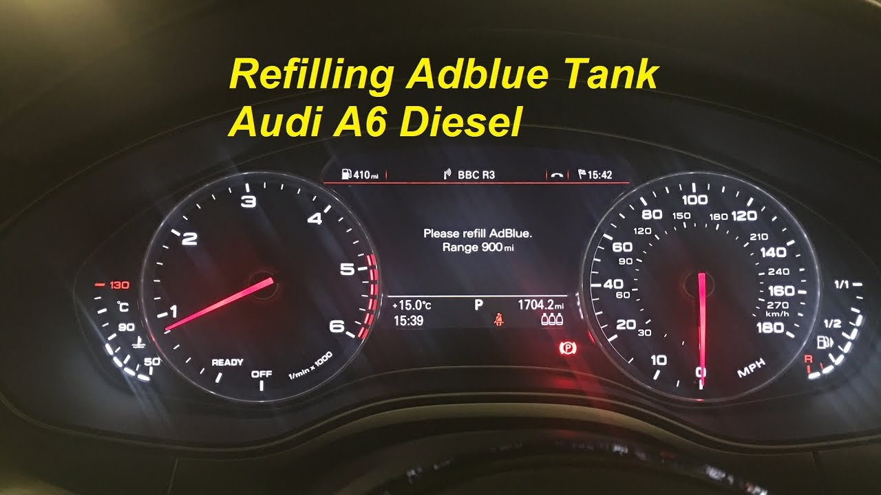 Refilling Adblue Myself Audi A6 Diesel Using 10l Adblue