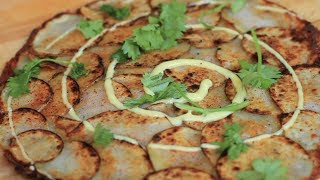 Fried Cheese Potato Tortilla - Superbowl Recipe!
