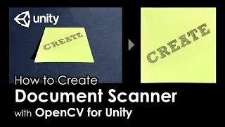 [Unity Tutorial] How to create Document Scanner with OpenCV For Unity thumbnail