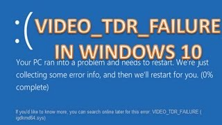 How to fix VIDEO_TDR_FAILURE (igdkmd64.sys) - Solved Easily