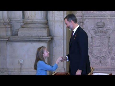 Spain's king celebrates 50th birthday amid Catalan crisis