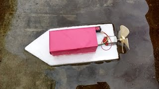 How To Make A Homemade Toy Motor Boat: Simple & Easy