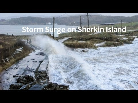 Storm Surge on Sherkin Island - 6th January 2014 - Video by Robbie Murphy