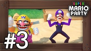 Super Mario Party: Walkthrough Part 3 - Megafruit Paradise (4 Players Gameplay)