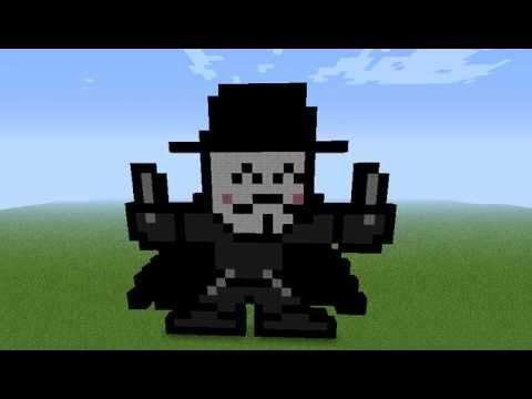 v for vendetta pixel art