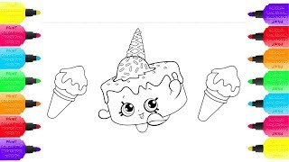 how to draw ice cream birthdaycake orange   Coloring Pages Food   Drawing and Art Colors for Kids