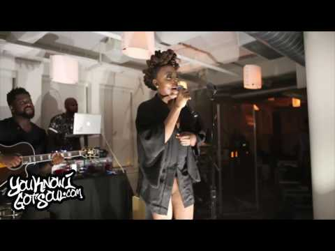 """Ledisi Performing New Single """"High"""" at NYC Press Event 8/2/17"""