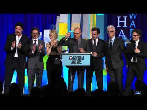 The cast of SPOTLIGHT winning an Special Jury Prize Gotham Award (Ensemble Performance)