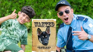 Jason search lost puppy with officer