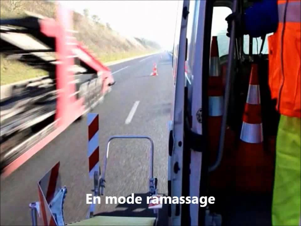 Baliseur pose et ramassage automatique de c nes de signalisation youtube - Cone de lubeck ...