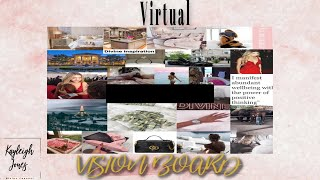 How to Create a VIRTUAL VISION BOARD! | Manifesting Through Visualization and Gratitude