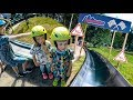 Fun & Fast Summer Toboggan Run at Kungsbygget Adventure Park (outdoor slide for family and kids)