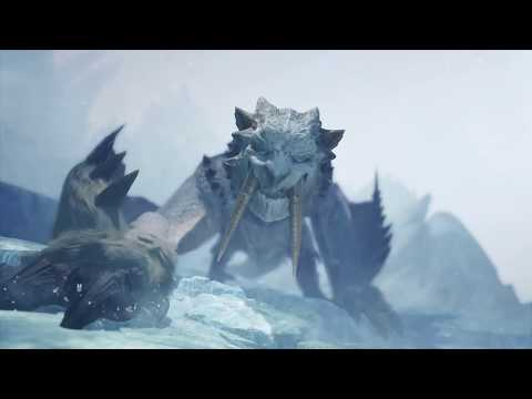 Barioth First Encounter - INSECT GLAIVE - Monster Hunter World Iceborne