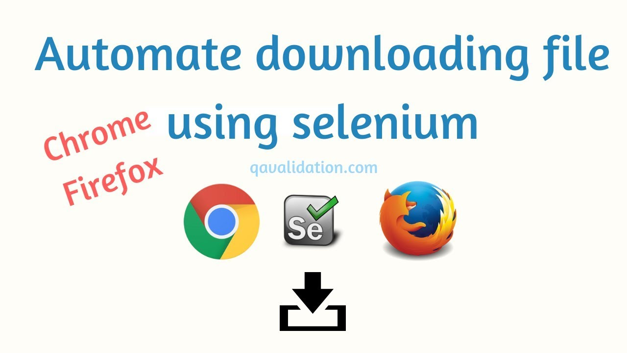 Download files in Chrome browser using selenium WebDriver