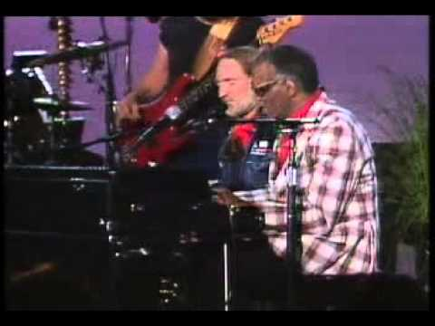 Willie Nelson with Ray Charles -  Geogia (live duet)