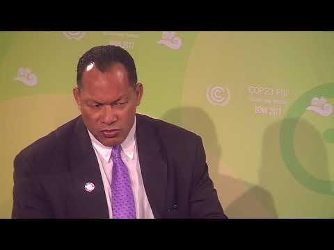 CLIMATE ACTION STUDIO COP23: Kosi Latu, Director of the SPREP