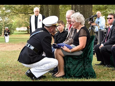 Arlington Full Honors Burial for Tarawa Marine 2nd Lt. George Stanley Bussa 10/10/2017