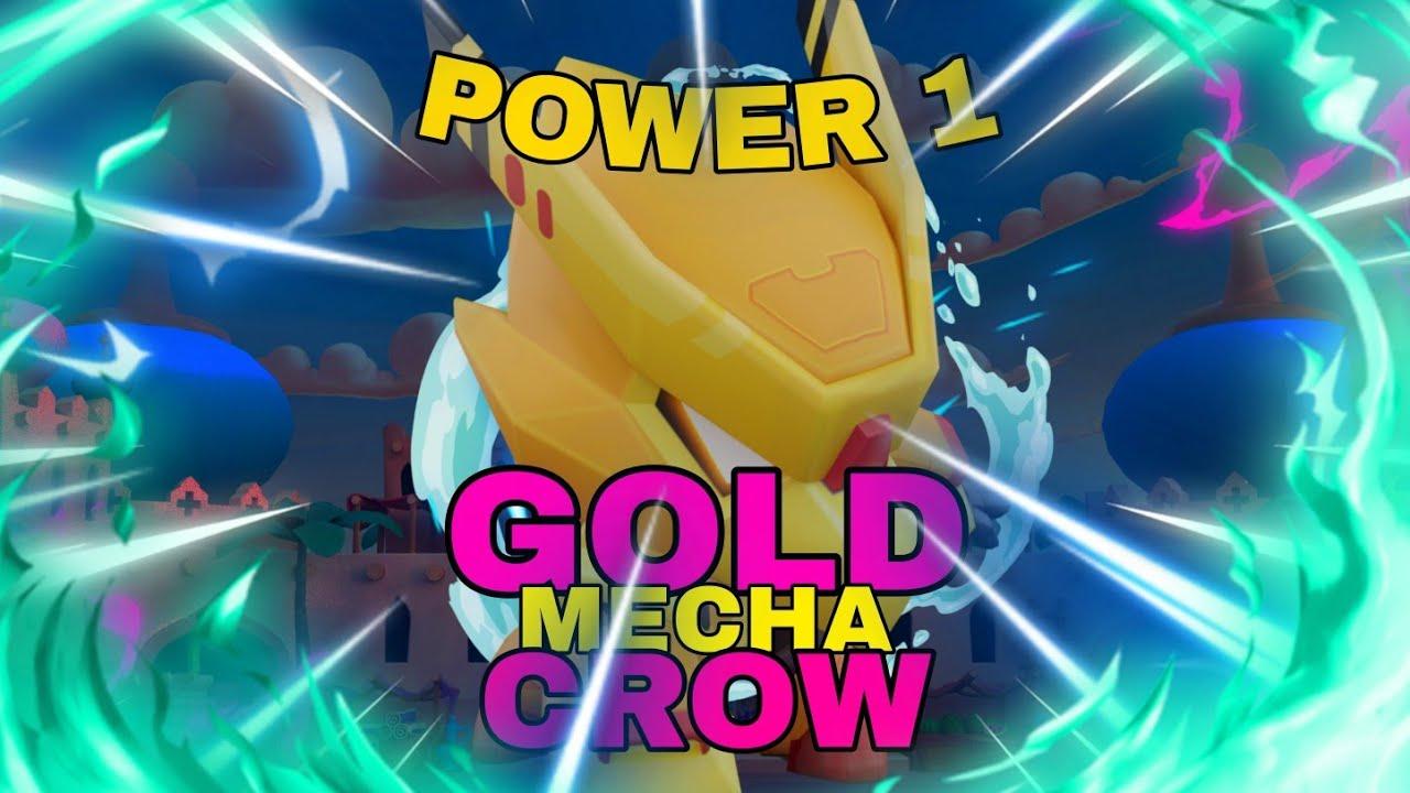 the first power 1 gold mecha crow🥇  brawl stars  youtube