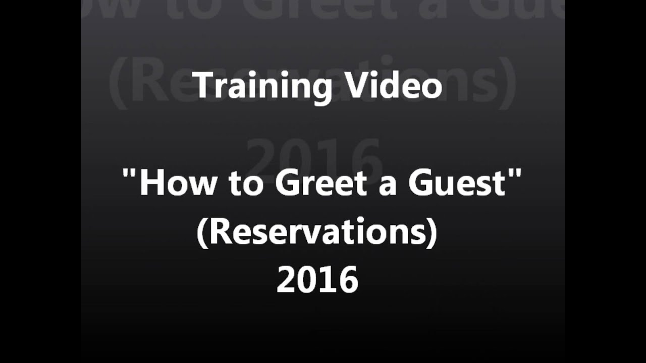 How To Properly Greet A Guest Youtube