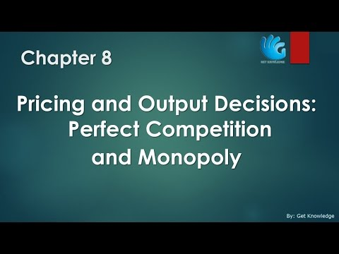 Perfect Competition and Monopoly - Chapter 8   Managerial Economics