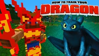 Minecraft - HOW TO TRAIN YOUR DRAGON 2 - [10] 'Fire Dragon Elder'