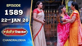 CHANDRALEKHA Serial | Episode 1589 | 22nd Jan 2020 | Shwetha | Dhanush | Nagasri | Arun | Shyam
