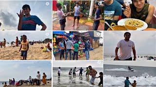 ಸಂಡೆ ಸ್ಪೆಷಲ್ ಫ್ಯಾಮಿಲಿಯೊಂದಿಗೆ ಫುಲ್ ಎಂಜಾಯ್ ಮಾಡಿದ್ವಿ  ಬೀಚ್ ನಲ್ಲಿ ಆಟ  Manglore Panabur Beach 2020