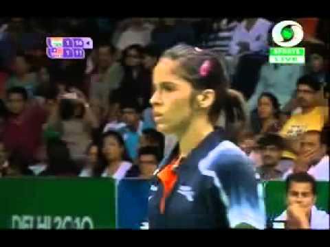 Commonwealth Games 2010 Saina Nehwal Badminton Final Match