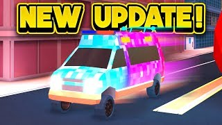 NEW FASTER AMBULANCE & MORE! (ROBLOX Jailbreak)