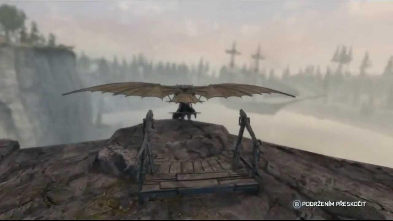 Assassin's Creed 3 da Vinci's flying machine - YouTube
