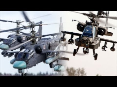 "Russian KA-52 ""Alligator"" Vs. U.S. AH-64 ""Apache"" 