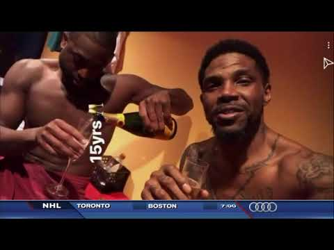 April 12, 2018 - WSVN - Miami Heat's Wade and Haslem Celebrate 15 NBA Years with Champagne