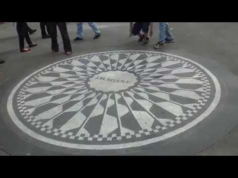 New York Manhattan: Central park - John Lennon: Strawberry fields are forever - Imagine - Beatles