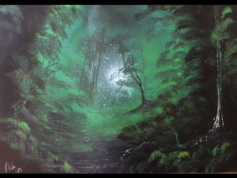 Deep Green Forest Painting - YouTube