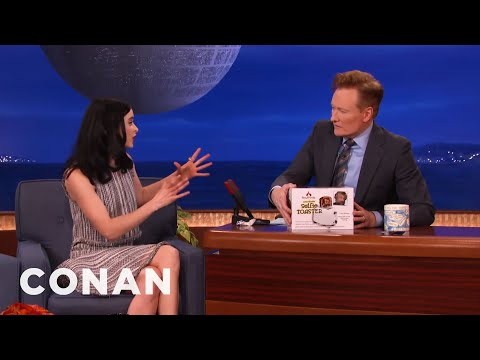 Krysten Ritter Gets Conan A Surprise Holiday Present   CONAN on TBS