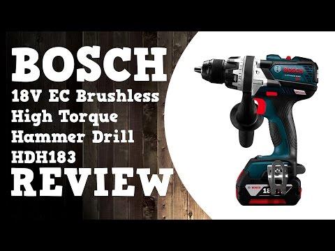 Bosch 18V EC Brushless Brute Tough HDH183 Hammer Drill Review in 4K
