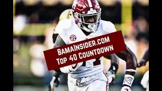 Alabama Football Top 40 Countdown (No. 40-36)