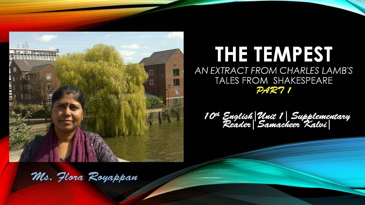 The Tempest| Part 1|10th English| Unit 1| Supplementary| Samacheer Kalvi|