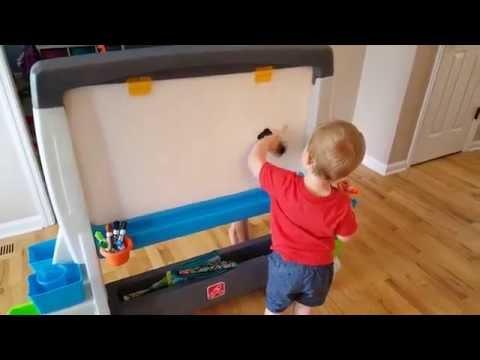 Kid Tested Jumbo Art Easel Video Review