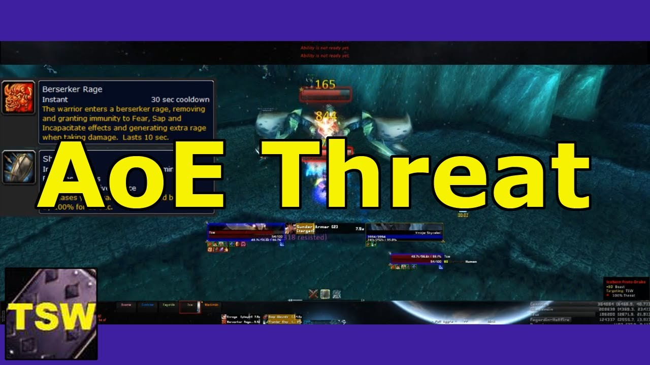 Warrior AoE Tanking Threat Guide for Protection World Of Warcraft