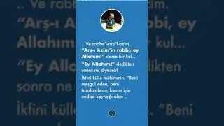 """""""Bir kul şöyle dua ederse, Allah Teala onun sıkıntısını giderir"""" hadis Mahmud Esad Coşan"""