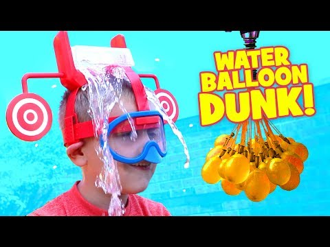Dunk Hat Challenge Extreme Kid vs Kid Water Balloon Fight & family Fun Activities