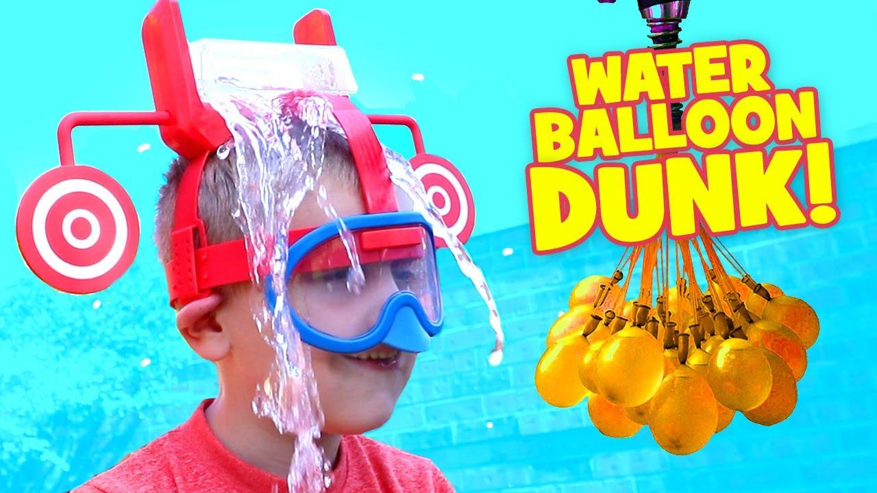 dunk hat challenge extreme kid vs kid water balloon fight u0026 family