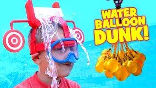 Dunk Hat Challenge Extreme Kid vs Kid Water Balloon Fight & family Fun Activities